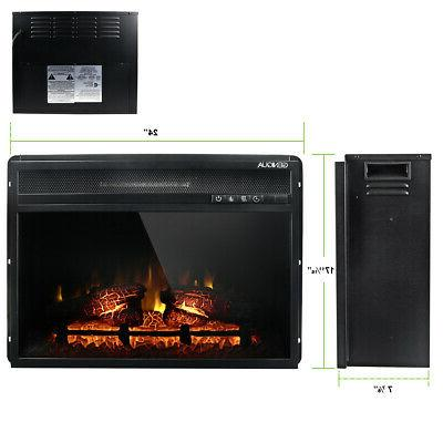 Wall Fireplace Heat w/Remote LED Flame Timer