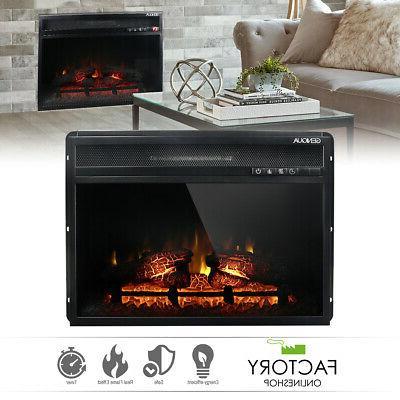 wall insert 1400w electric fireplace heat w