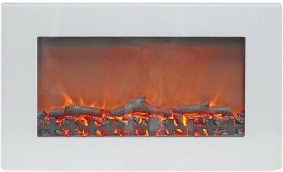Wall Mount Electric Fireplace Heater 30 inch with Realistic