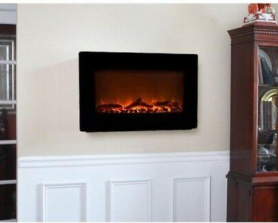 wall mount electric fireplace heater adjustable 1400