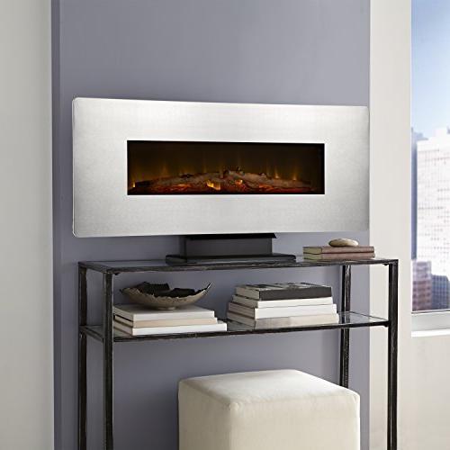 Muskoka Wall Electric Fireplace-Zinc