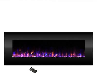 Wall Mounted LED Fire Electric Fireplace 54 Built-In