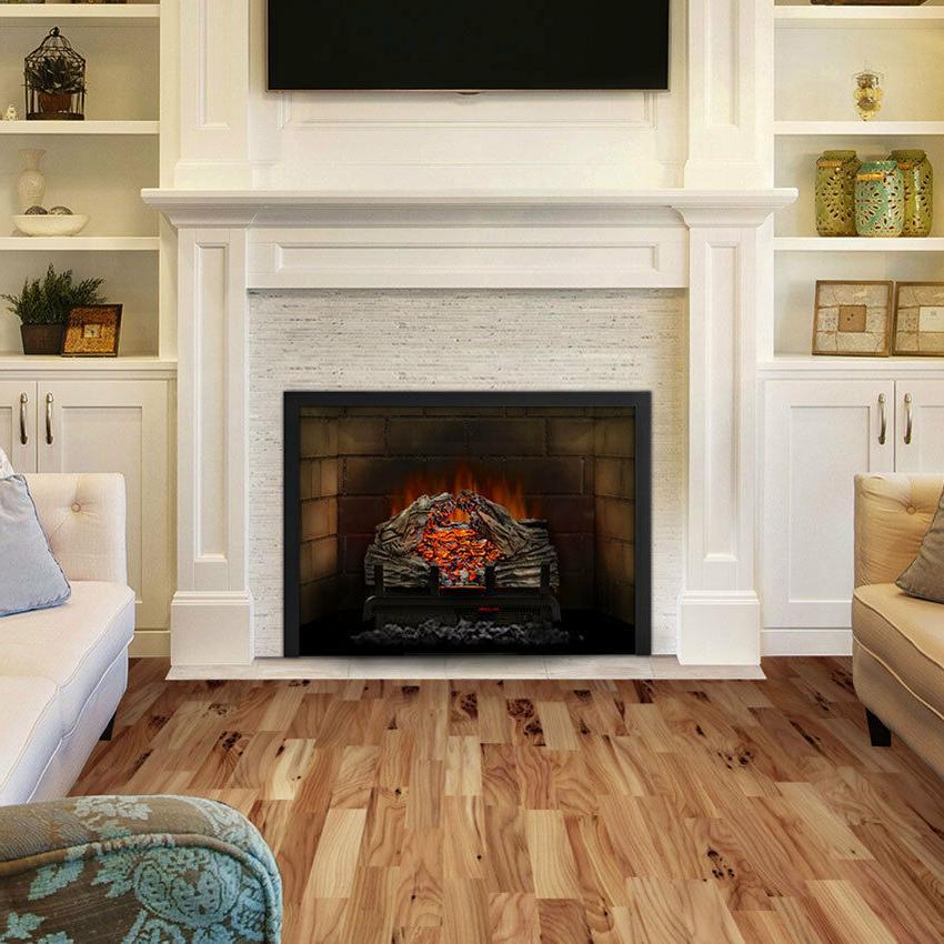 woodland electric fireplace log set