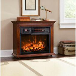 Large Room Electric Infrared Fireplace Heater Wood Mantel Oa