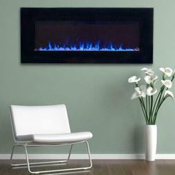 LED Fire and Ice Electric Fireplace with Remote Wall Mount 1