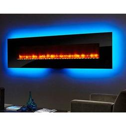 Hearth & Home 94-In Linear Wall Mount Electric Fireplace - S