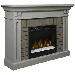 Dimplex Madison Mantel Electric Fireplace with Glass Ember B