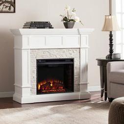 Southern Enterprises Merrimack Corner Electric Fireplace in