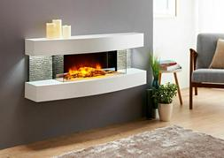 Evolution Fires Miami Curve Wall Mounted Electric Fireplace