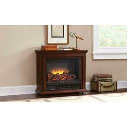 Pleasant Hearth Mobile Electric Fireplace Sheridan Infrared