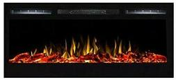 Moda Flame 35 Inch Cynergy Log Built-In Wall Mounted Electri