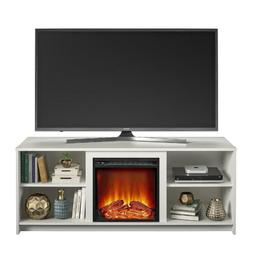 """Modern 65"""" Electric Fireplace Wood TV Stand Unit With Open S"""