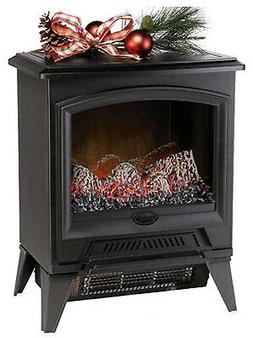 DIMPLEX CS-12056A Electric Fireplace Stove, Black, 17.4-In.