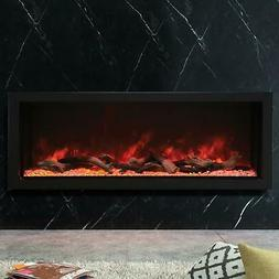 "Amantii Panorama Extra Tall, Deep 60"" Built-In Electric Fire"