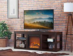 Ameriwood Home Parsons Electric Fireplace TV Stand and Delux