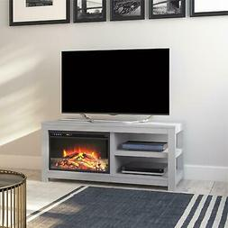 """Parsons Electric Fireplace TV Stand for TVs up to 55"""", Dove"""