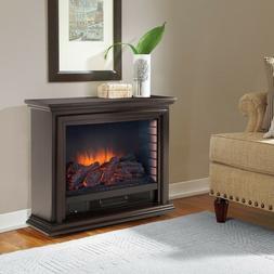 Pleasant Hearth Sheridan Mobile Infrared Fireplace-Espresso