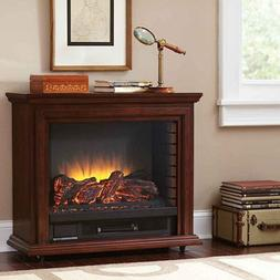 Portable Electric Fireplace Heater TV Stand With Remote Real