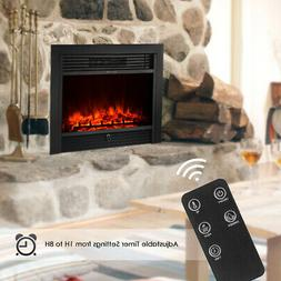 """28.5"""" Wall Electric Fireplace Insert Log Flame Remote Contro"""