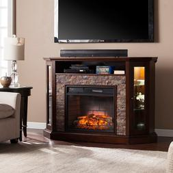 Southern Enterprises Redden Corner Electric Fireplace TV Sta