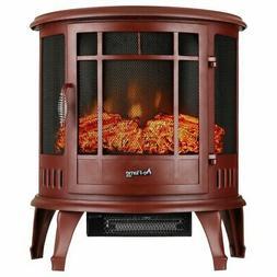 e-Flame USA Regal Portable Electric Fireplace Stove  – Thi