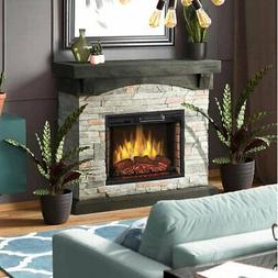 Sable Mills Electric Fireplace With Multi-functional Remote