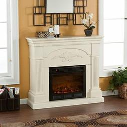 Holly & Martin Salerno Electric Fireplace-Ivory