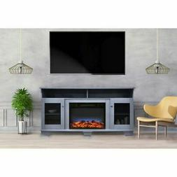 "Savona 59"" Electric Fireplace w/Stand and Multi-Color Flame"