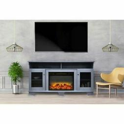 """Savona 59"""" Electric Fireplace with Stand and Enhanced Log Di"""