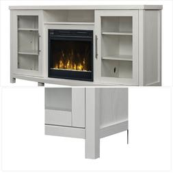 "Sea Meadow White TV Stand for TVs up to 60"" with Electric Fi"