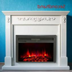 """Secondhand 32"""" 1500W Recessed Electric Heater Fireplace Inse"""