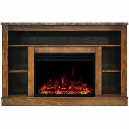 "Cambridge Seville Electric Fireplace Heater with 47"" Walnut"
