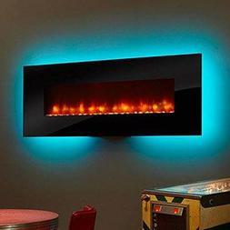 "Simpli-Fire 70"" Linear Wall-Mount Electric Fireplace, 4800 B"