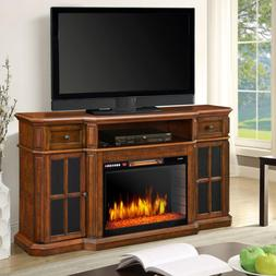 Sinclair 60 in. Bluetooth Media Electric Fireplace TV Stand