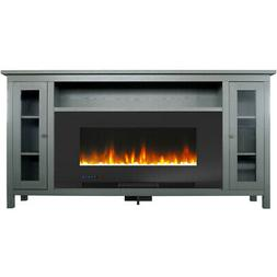 Cambridge Somerset 70-In. Gray Electric Fireplace TV Stand w