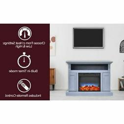 Sorrento Electric Fireplace w/Multi-Color LED Insert and 47""