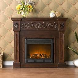 Southern Enterprises Calvert Carved Ivory Gel Fireplace Espr