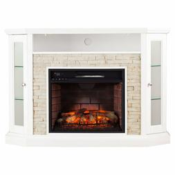 Southern Enterprises Grantham Corner Electric Fireplace TV S