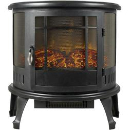 Space Heater Electric Fireplace Portable Stove Realistic Fla