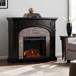 Southern Enterprises Tanaya Electric Fireplace in Ebony and