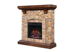 Classic Flame Tequesta Compact Stacked Stone Electric Firepl