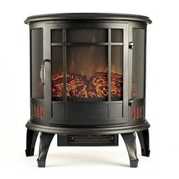 Torino Curved Electric Fireplace Free Standing Portable Spac