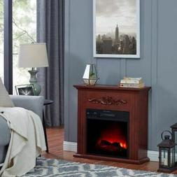 Traditional Electric 28 inch Wooden Mantel Home Fireplace He