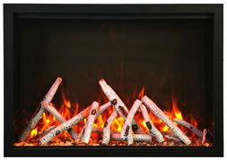 """Amantii TRD 44"""" Traditional Electric Fireplace with Log Set"""