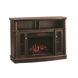 TV Stand Infrared Entertainment Media Center Bow Front Elect
