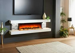 Evolution Fires Vegas 72 Inch Wall Mounted Electric Fireplac