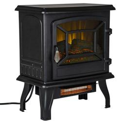 Vintage Style Electric Thermostat Stove Infrared Fireplace w