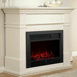 """Wall Electric Fireplace 28.5"""" Insert Log Flame Remote Contro"""