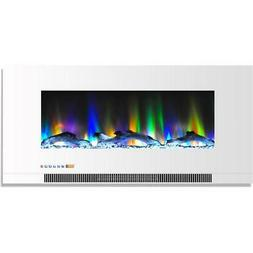 wall mount electric fireplace multi color flames