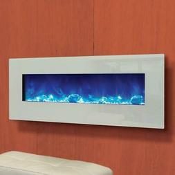 Amantii Wall Mount/Flush Mount 48-In Electric Fireplace Whit